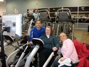 Jim, Meredith, and Ellen. Three musketeers on the Exercise Floor.