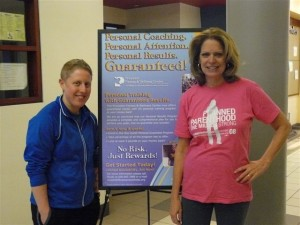 Patty Byers and Personal Trainer Jenna Rubinoff. Get on track with the Personal Results Program.