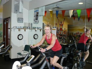 Strengthen your lungs with an indoor cycle ride.