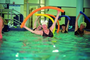 Water workouts help allow full range of motion.