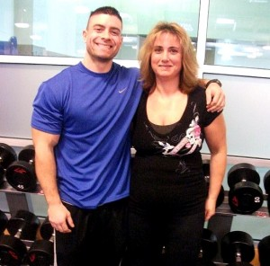 Personal Trainer Mike Sarni with Brenda.