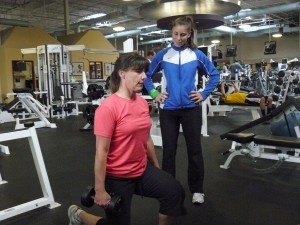 PFWC Lauren Potts and trainer Jenny Luis, pic