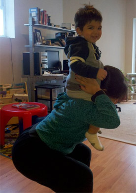Kimberly gives Aydin a lift.