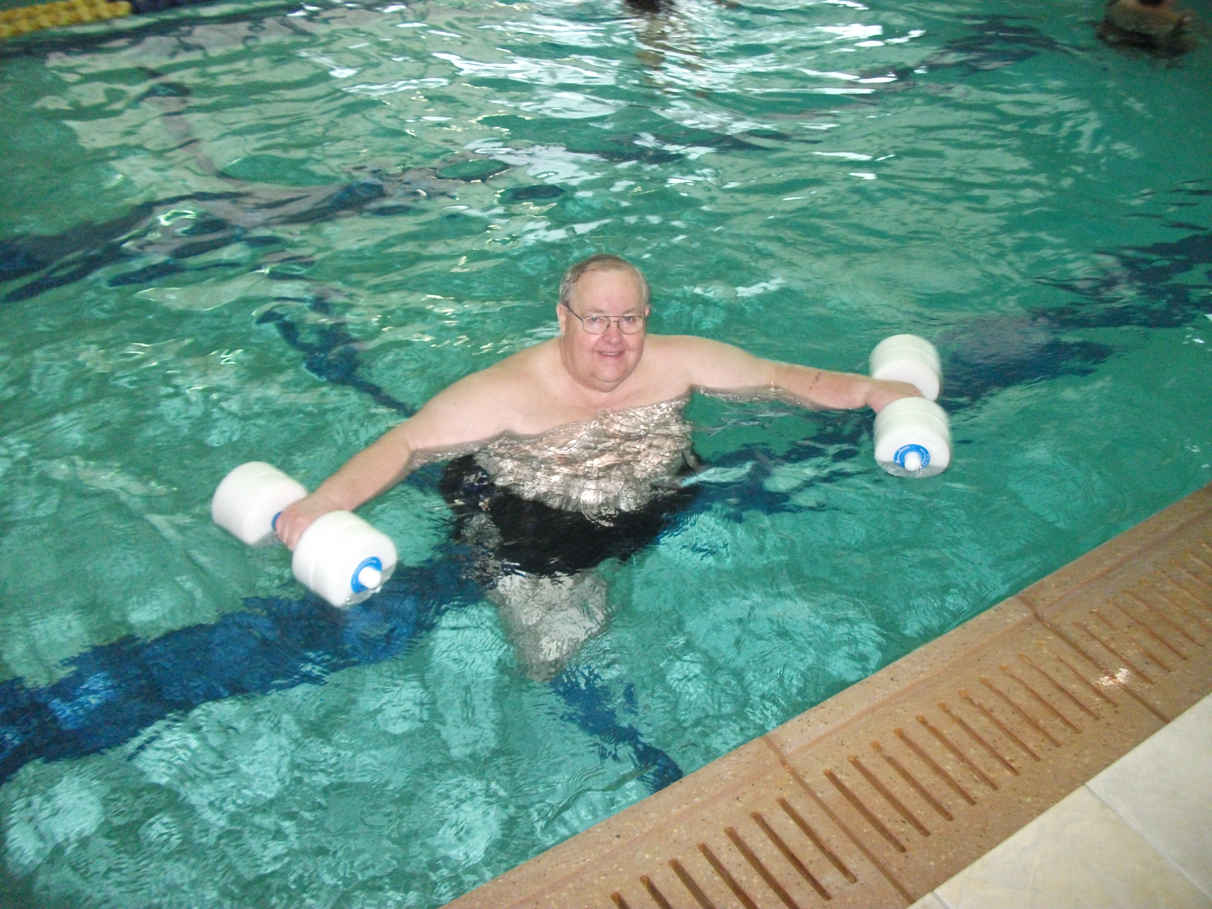 Ed's water workout is safe and effective.
