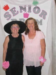 Barbara with workout buddy member Judy Schaeffer.