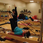Pilates helps eliminate aches accumulated over the winter.