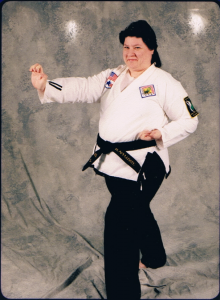 Rita in her martial arts days.