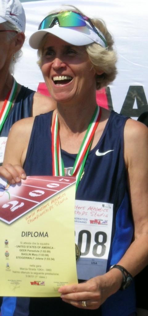 Panse's latest triumph, USA Masters 40K Race Walk Championships.