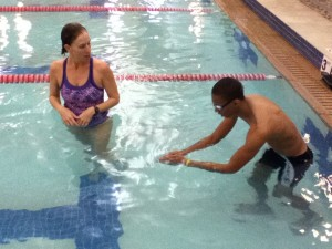 Learning to swim is a great way to start aquatic training.