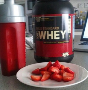 Post-workout, enjoy a whey-infused protein shake to enhance results.