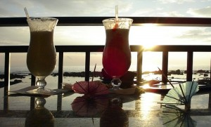 sunset drink, pic