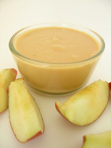 apples and dip, pic