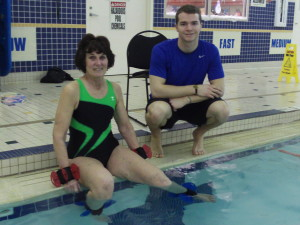 Using aquatic training to improve hip rotation strength.
