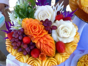 Fruit & veg carving, pic