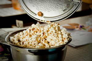 Make a day of it! Movies, books, games, popcorn.