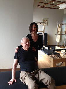 Robert with Personal Trainer/Pilates Instructor Joan Caggiano