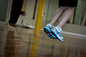 Boost a Pilates workout with intervals of jumping rope.