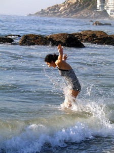 Woman in water, pic