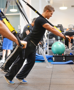 TRX training safely uses your own body weight to strength train.