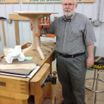 Phil with his woodworking, before he added fitness to his hobbies.