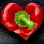 red pepper heart, pic