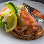 Rethink salmon servings. Pile thin slices on whole grain bread for a sandwich.