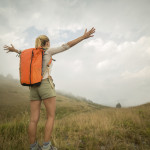 Woman backpacker, pic