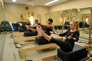 Pilates targets your core to help reduce abdominal fat.