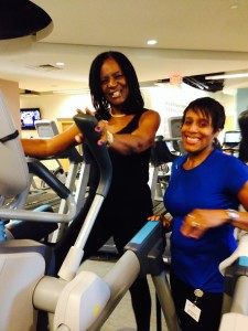 Sylvia with Trainer Paulette.