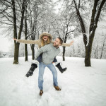 Snowy couple, pic