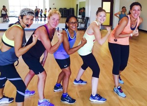 Fitness fun, fists, pic