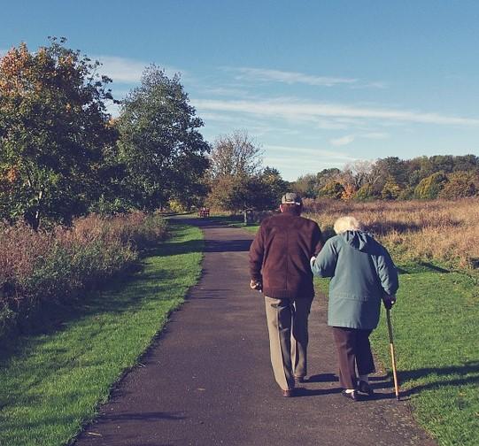 Image result for older couple walking